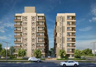 Elevation of real estate project Jaldeep Icon located at Makarba, Ahmedabad, Gujarat