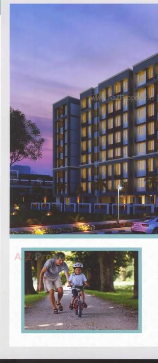Elevation of real estate project Sayan Heights located at Vejalpur, Ahmedabad, Gujarat
