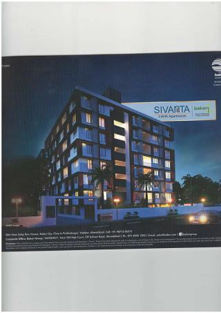 Elevation of real estate project Sivanta Aments located at City, Ahmedabad, Gujarat
