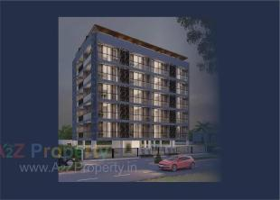 Elevation of real estate project Saketam located at Nana-mava, Rajkot, Gujarat