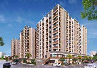 Elevation of real estate project Siddhi Heritage located at Mavdi, Rajkot, Gujarat