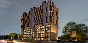 Elevation of real estate project The Spire 2 located at Raiya, Rajkot, Gujarat