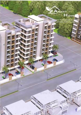 Elevation of real estate project Anant Homes located at Utran, Surat, Gujarat