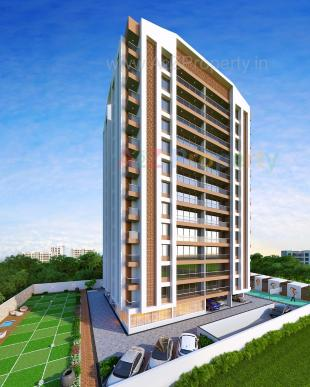 Elevation of real estate project Bhoomipujya Residency located at Pal, Surat, Gujarat