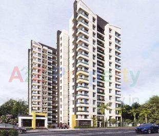 Elevation of real estate project Blue Candle located at Singanpore, Surat, Gujarat