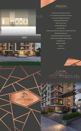 Elevation of real estate project City Homes located at Rander, Surat, Gujarat