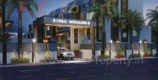 Elevation of real estate project Coral Bungalows located at Althan, Surat, Gujarat