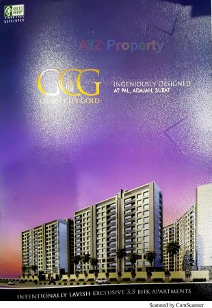 Elevation of real estate project Green City Gold located at Bhatha, Surat, Gujarat