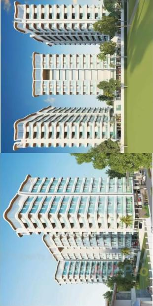 Elevation of real estate project Manidhari Luxuria located at Pal, Surat, Gujarat