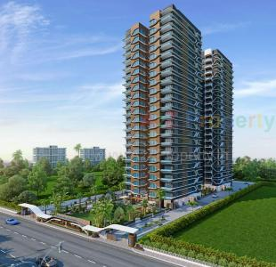 Elevation of real estate project Md's Landmark Universe located at Althan, Surat, Gujarat