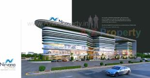 Elevation of real estate project Nirvana Shoppers located at Jahangirabad, Surat, Gujarat