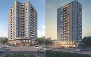 Elevation of real estate project Oliva Pride located at Bhimrad, Surat, Gujarat
