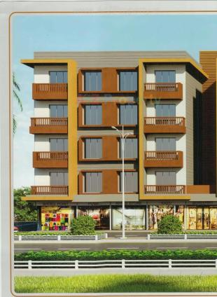 Elevation of real estate project Rudra Palace located at Dindoli, Surat, Gujarat