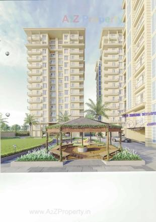 Elevation of real estate project Saffron Luxuria located at Valak, Surat, Gujarat
