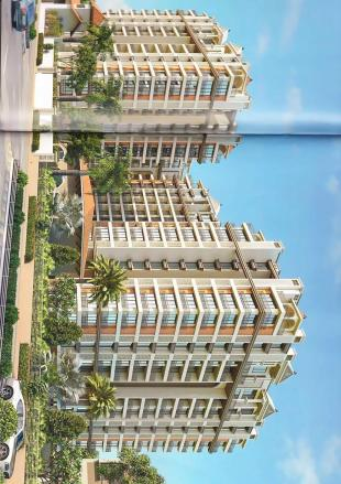 Elevation of real estate project Sahjanand Harmony located at Kosmada, Surat, Gujarat