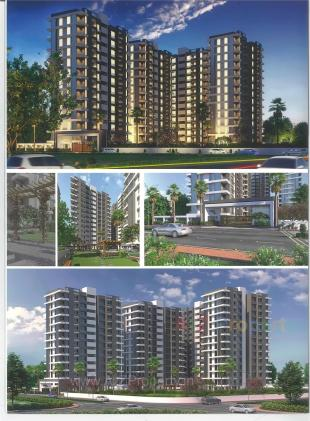 Elevation of real estate project Saral Heights located at Navagam, Surat, Gujarat