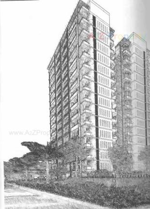 Elevation of real estate project Sky Walk located at Kosad, Surat, Gujarat
