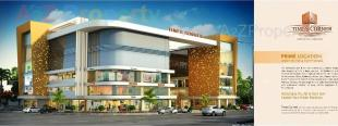 Elevation of real estate project Times Corner located at Vesu, Surat, Gujarat