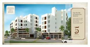 Elevation of real estate project 5th Avenue located at Manjalpur, Vadodara, Gujarat