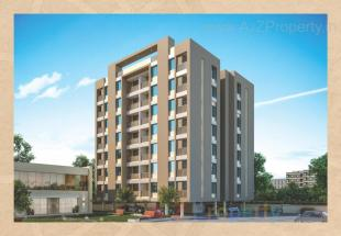 Elevation of real estate project Aadhya Aurum located at Bhayli, Vadodara, Gujarat