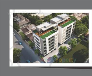 Elevation of real estate project Abhipushpam located at Sama, Vadodara, Gujarat