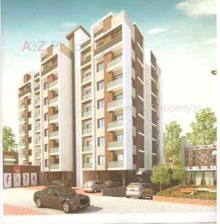 Elevation of real estate project Abhishek Aura located at Sama, Vadodara, Gujarat