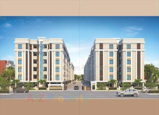 Elevation of real estate project Akshar Pride located at Kalali, Vadodara, Gujarat