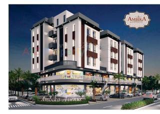 Elevation of real estate project Ambika Avenue located at Vadodara, Vadodara, Gujarat