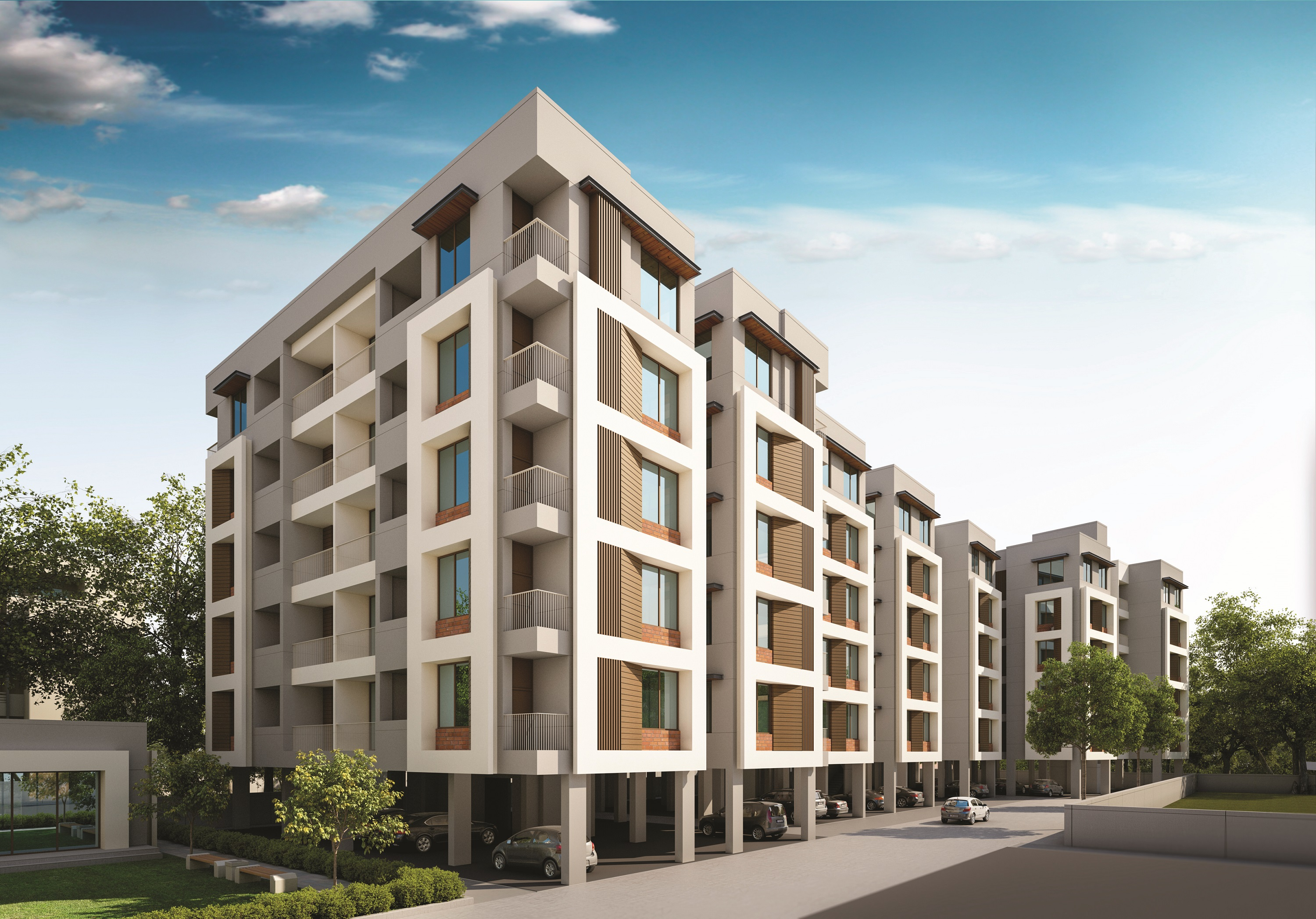 Elevation of real estate project Avadh Resicom located at Vadsar, Vadodara, Gujarat