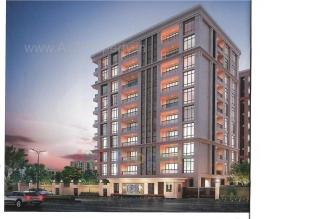 Elevation of real estate project Courtyard Towers located at Sevasi, Vadodara, Gujarat