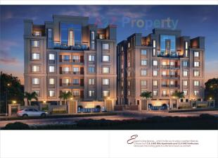 Elevation of real estate project Earth Allyssum located at Bhayli, Vadodara, Gujarat