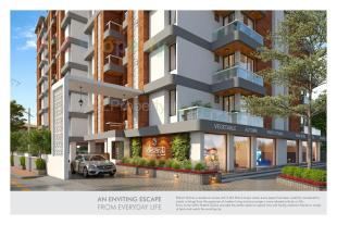 Elevation of real estate project Ekdant Skyline located at Kapurai, Vadodara, Gujarat