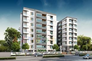 Elevation of real estate project Eshanti Elegance located at Bhayli, Vadodara, Gujarat