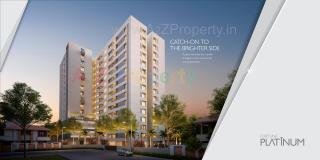 Elevation of real estate project Fortune Platinum located at Vadodara, Vadodara, Gujarat