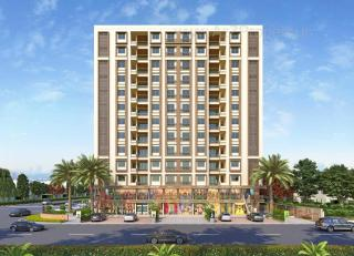 Elevation of real estate project Gajanan Heights located at Manjalpur, Vadodara, Gujarat
