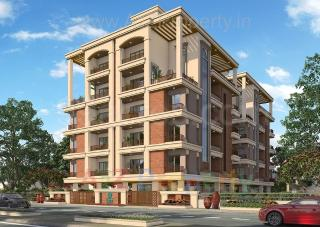 Elevation of real estate project Green Emerald located at Ankodia, Vadodara, Gujarat