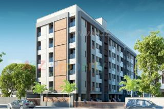 Elevation of real estate project Hazelwoods located at Vasna, Vadodara, Gujarat