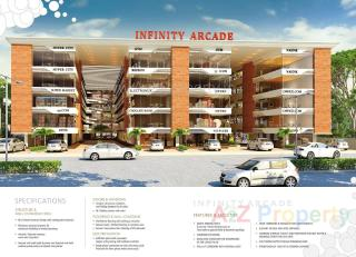 Elevation of real estate project Infinity Arcade located at Mankana, Vadodara, Gujarat