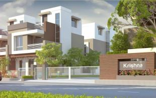 Elevation of real estate project Krishna Bunglows located at Kapurai, Vadodara, Gujarat