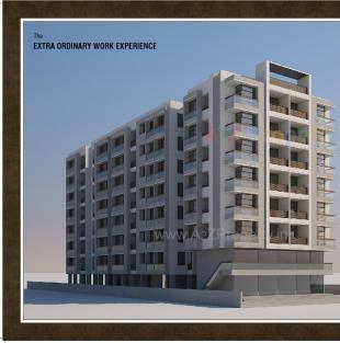 Elevation of real estate project Krishna Paradise located at Sayajipura, Vadodara, Gujarat