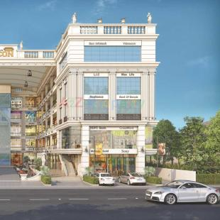 Elevation of real estate project Labh Icon located at Gotri, Vadodara, Gujarat