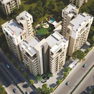 Elevation of real estate project Mangla Majesty located at Bhayli, Vadodara, Gujarat
