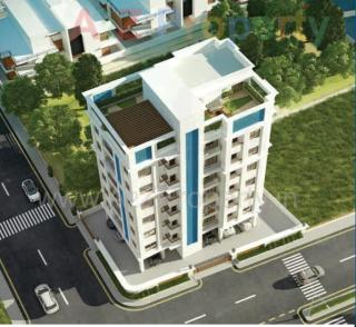 Elevation of real estate project Nirmaan One located at Gotri, Vadodara, Gujarat