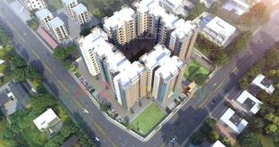 Elevation of real estate project Northway Millenium located at Bhayli, Vadodara, Gujarat