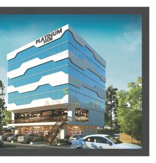 Elevation of real estate project Platinum Hub located at Manjalpur, Vadodara, Gujarat