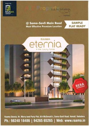 Elevation of real estate project Raama Eternia located at Vemali, Vadodara, Gujarat