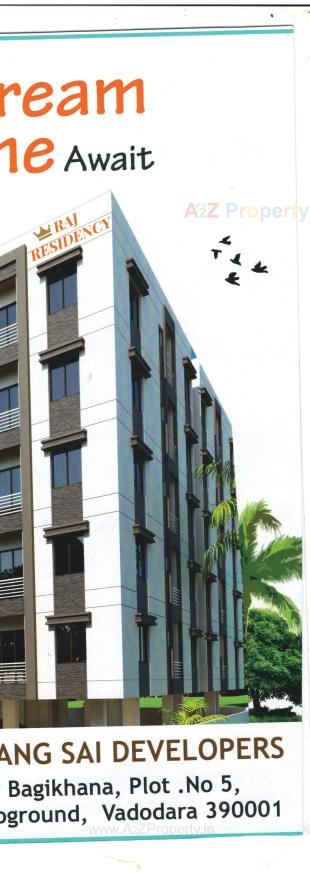 Elevation of real estate project Raj Residency located at Kasba, Vadodara, Gujarat