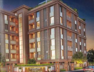 Elevation of real estate project Shantam Residency located at Gotri, Vadodara, Gujarat