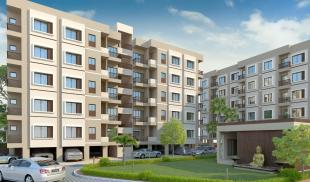 Elevation of real estate project Sharnam Happy Homes located at Sayajipura, Vadodara, Gujarat