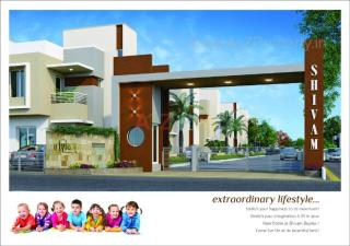 Elevation of real estate project Shivam Duplex located at Ankhol, Vadodara, Gujarat